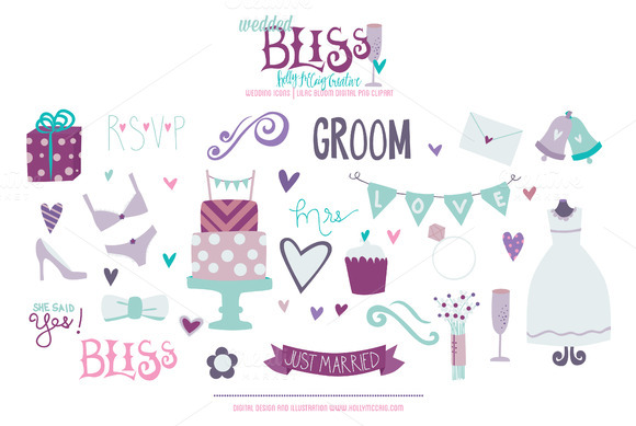 Wedded Bliss PNG Lilac Clipart