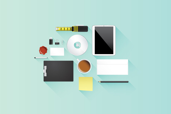 Flat Office Icon Vector Set
