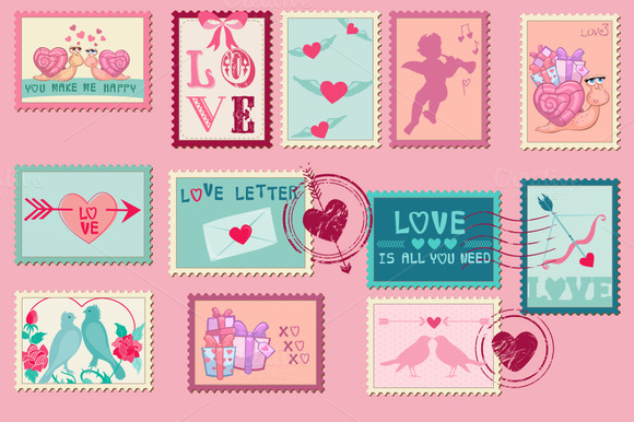 Set Of Love Stamps