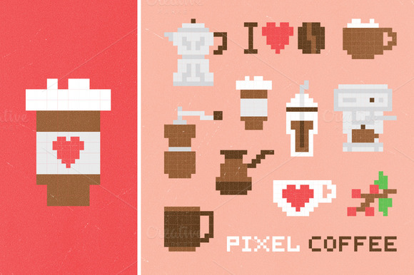 Pixel Coffee Set