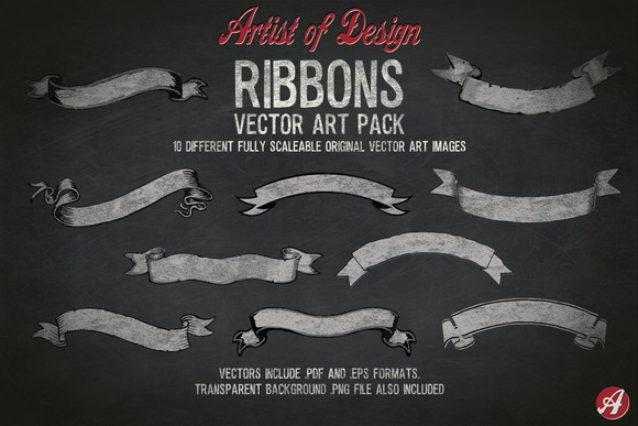 Vector Clip Art Ribbons