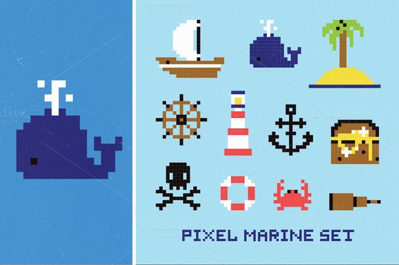 Pixel Marine Set