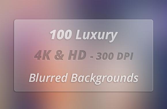 100 Pcs 4K HD Blurred Background