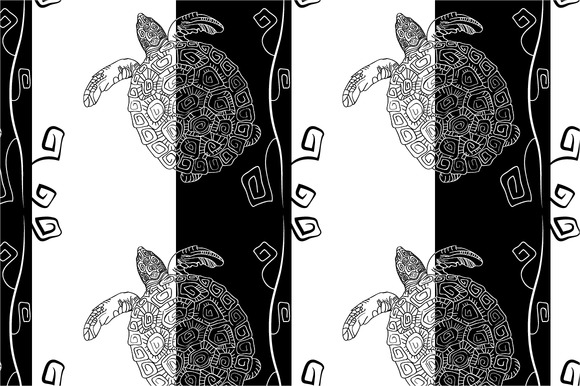 Seamless Pattern Black And White