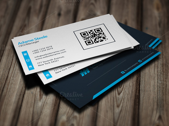 Simple Business Cards Light Dark