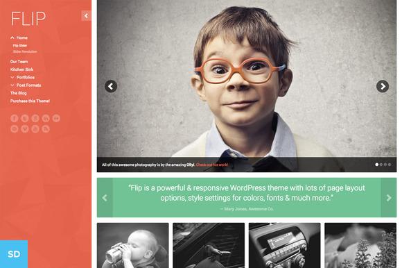 FLIP A Colorful WordPress Theme