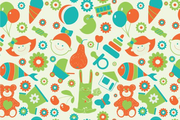 Seamless Pattern Childhood
