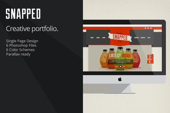 Snapped Creative Portfolio PSD