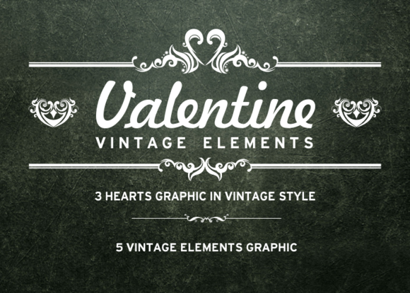 Vintage Elements For Valentine S Day
