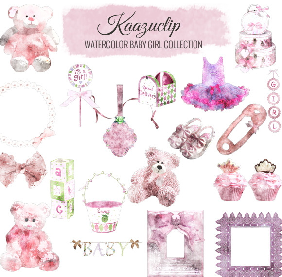Watercolor Baby Girl Collection