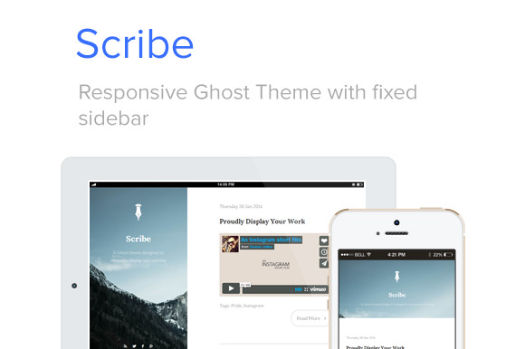 Scribe Responsive Ghost Theme