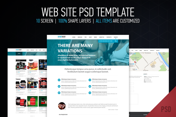 Web Site PSD Template