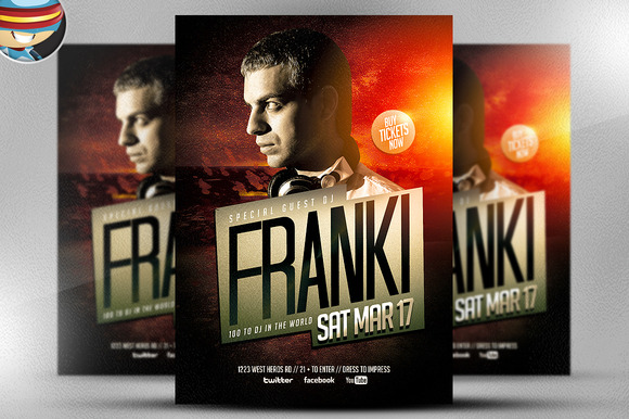 DJ Franki Flyer Template