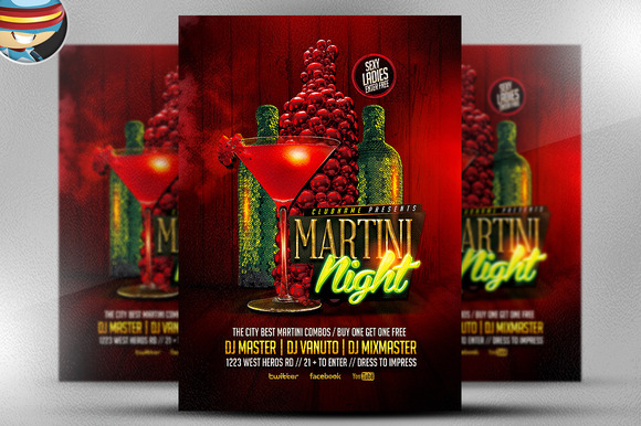 Martini Nights Flyer Template