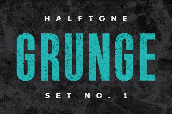 Halftone Grunge Texture Set No 1