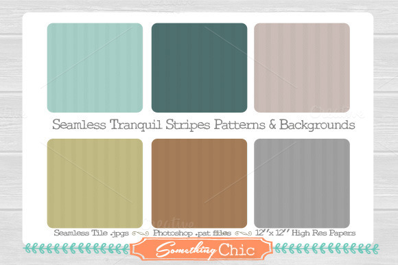 Seamless Tranquil Stripes Patterns