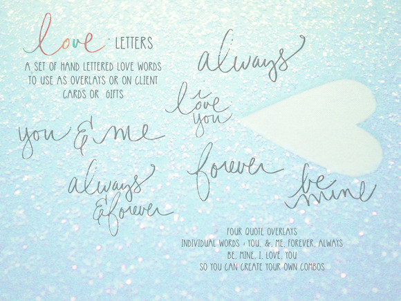 Love Letters Hand Drawn Overlays