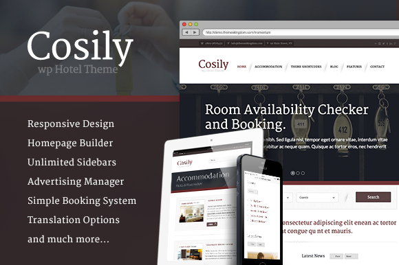Cosily WordPress Theme For Hotels