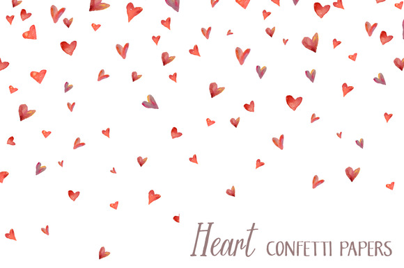 Heart Confetti Papers Background