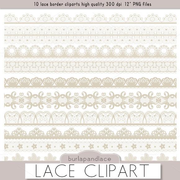 Clipart Beige Lace Borders