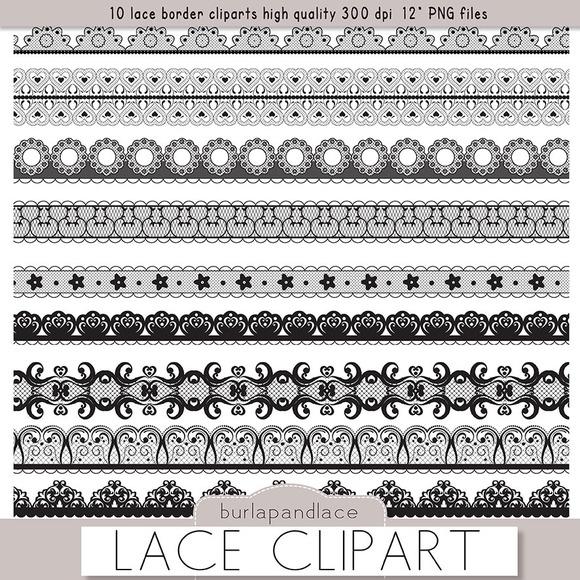 Clipart Black Lace Borders