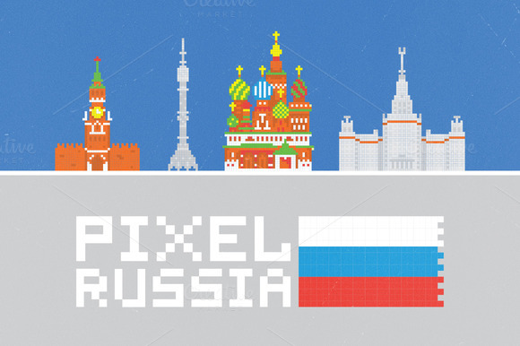 Pixel Russia Set