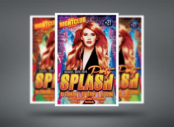 Splash Out Party Flyer