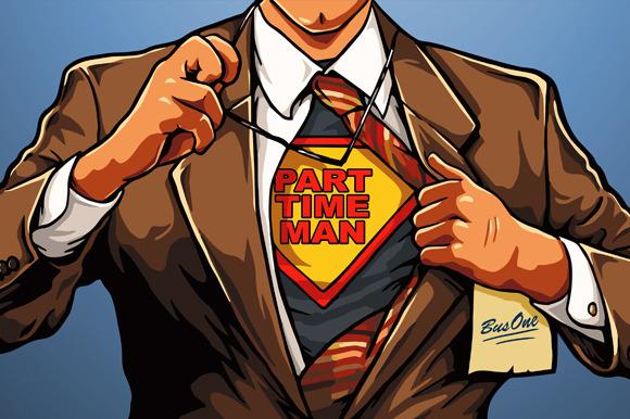 Superhero Vector Cartoon Man