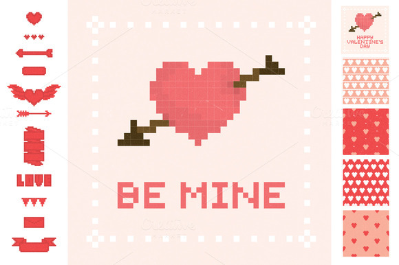 Pixel Valentine S Day Set