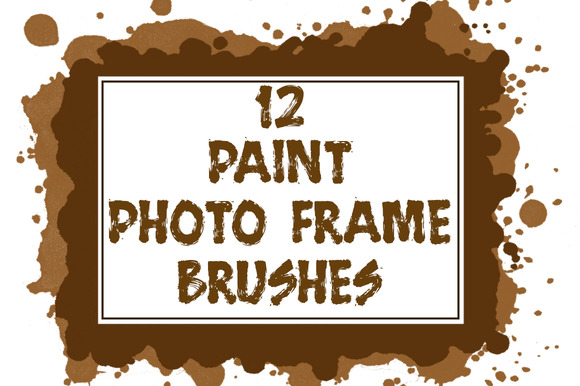 12 Paint Photo Frame Brushes