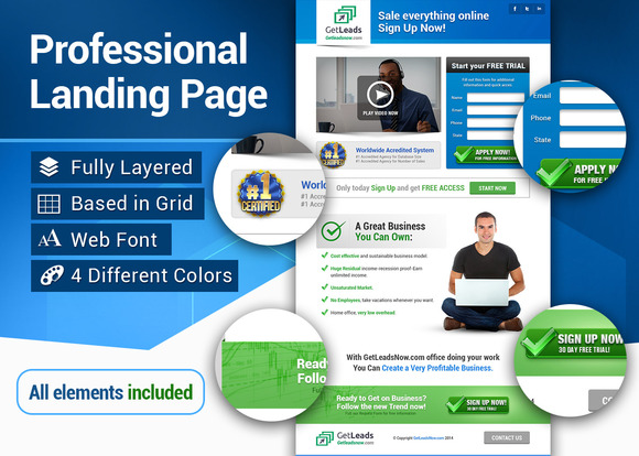 Professional Landing Page