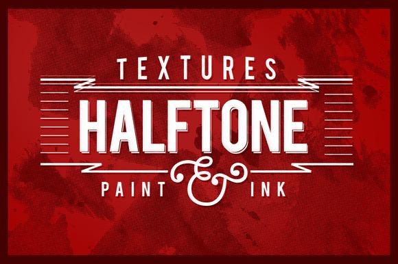Halftone Paint Textures #1