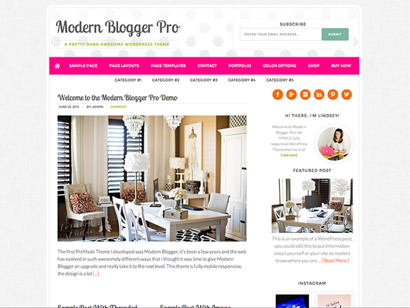 Modern Blogger PRO WordPress Theme