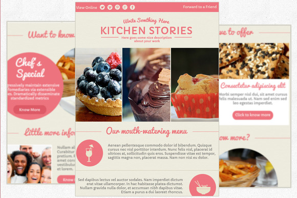 Muffin-Elegant Email Newsletter PSD