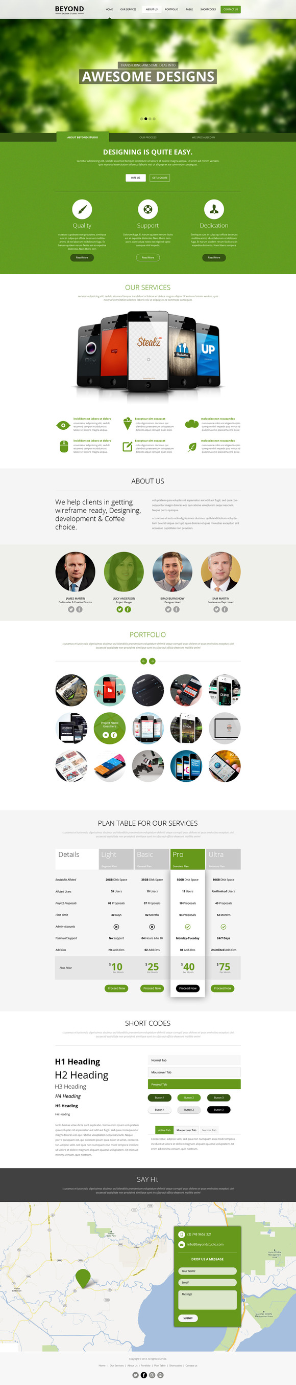 Beyond One Page PSD Template