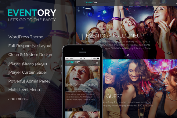 Eventory Events WordPress Theme