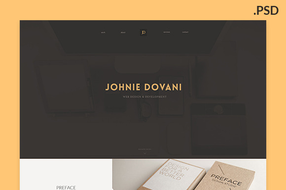 Johnie PSD One Page Porfolio