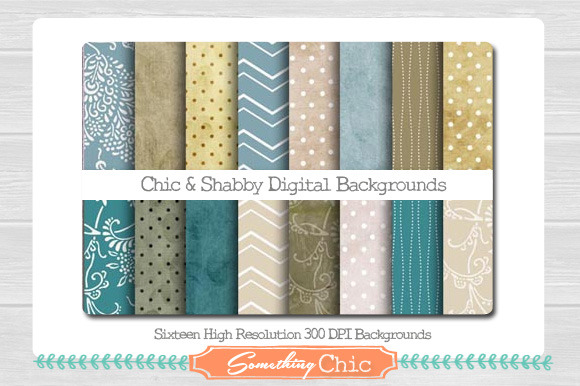 Chic Shabby Digital Backgrounds