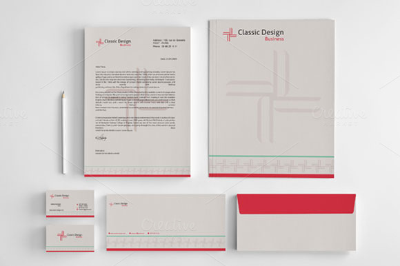 Classic Design Stationery Template