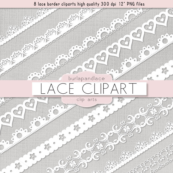 Clipart White Lace Borders