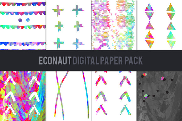 Econaut Digital Paper Pack