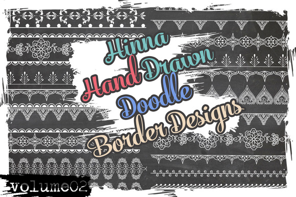 Hina Doodled Border Designs 1