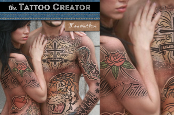 Tattoo Creator Photoshop Mockup