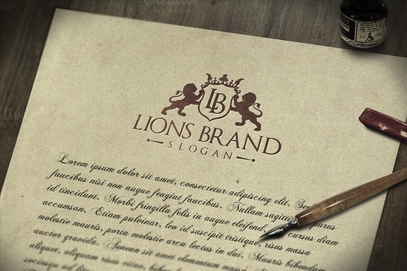 Lions Brand Logo Template