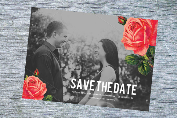 Chic Floral Save The Date