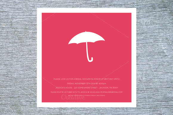 Umbrella Bridal Shower Invite