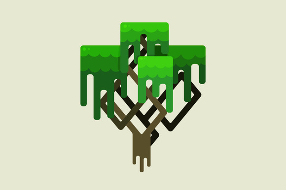Stylized Geometric Design Of Tree
