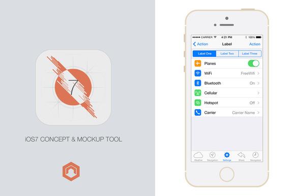 IOS7 Concept Mockup Tool