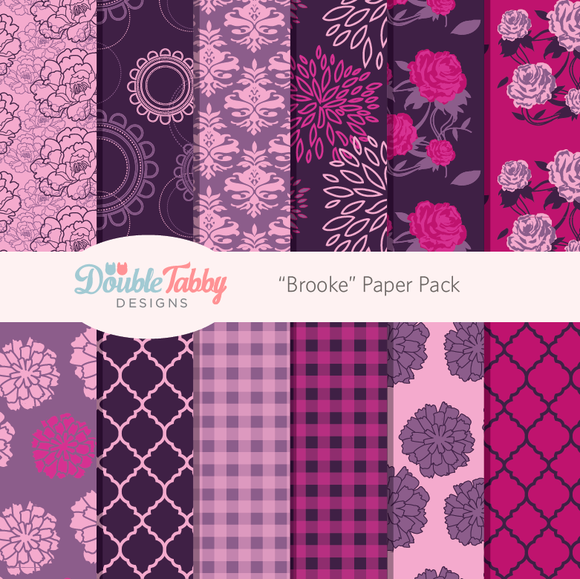 Purple And Pink Paper Pack Brooke