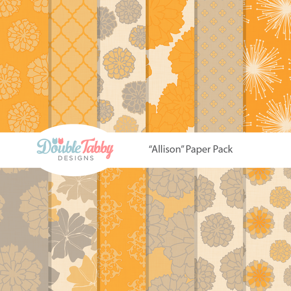 Yellow Floral Patterns Paper Pack